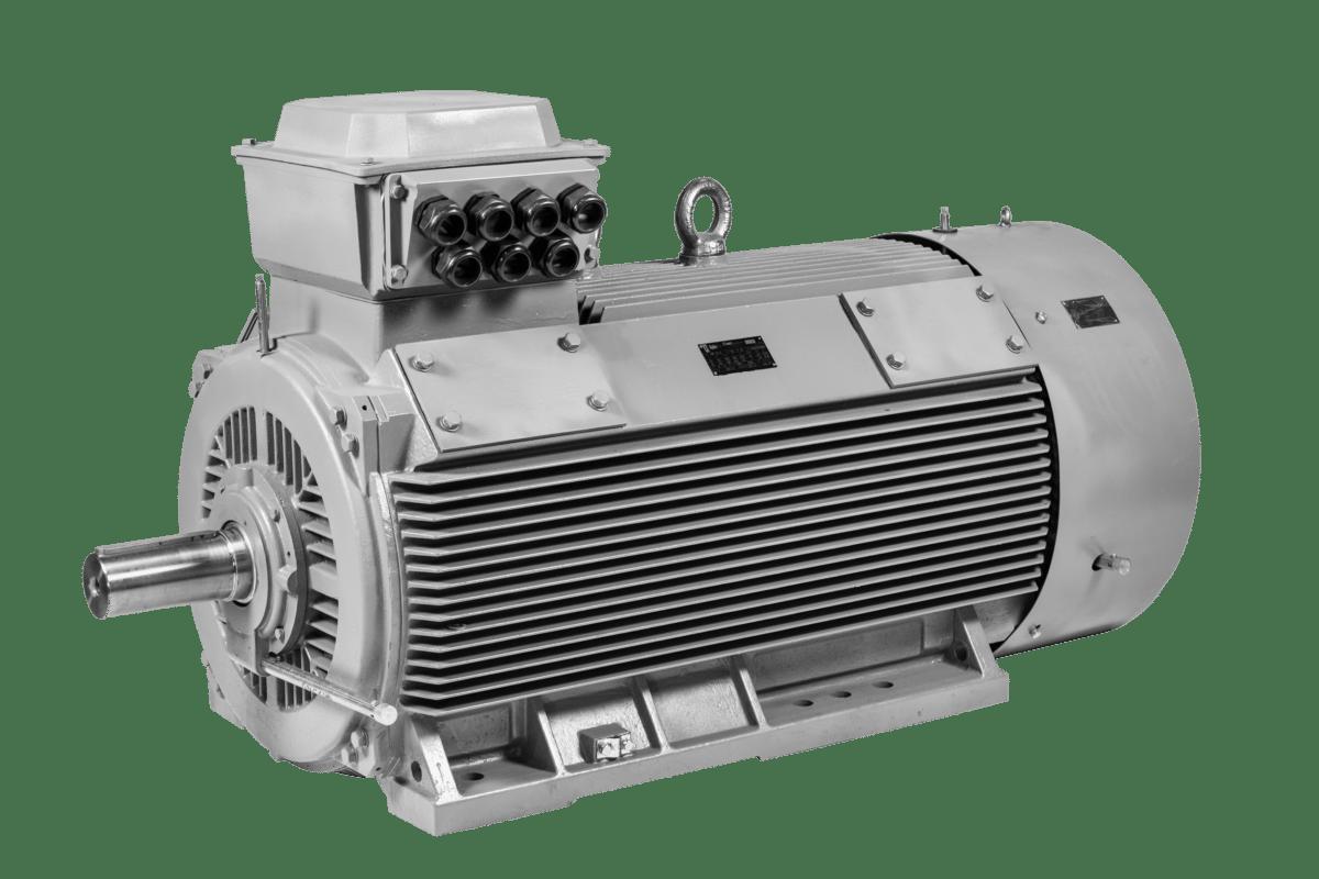 Midden en hoogspanning motoren