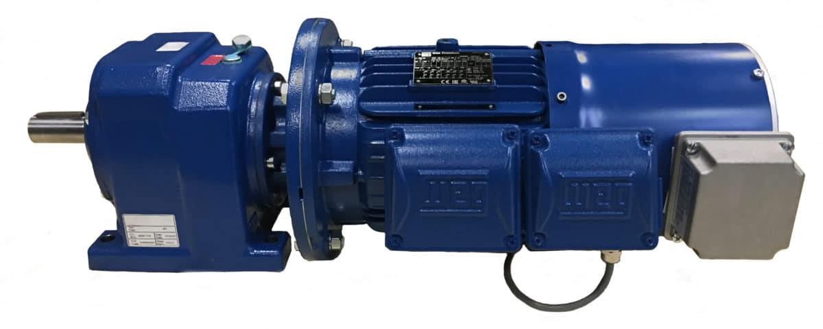 Motor reductor +geforceerde koeling